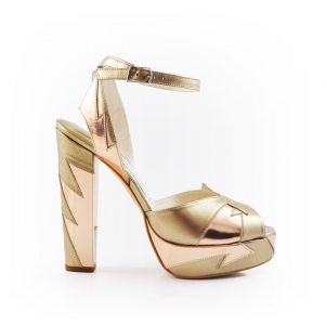 Zia Rose Gold Luxury Block Heel 1